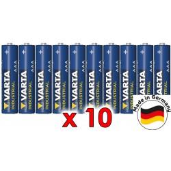 Alkalická baterie VARTA Industrial AAA LR3 R3 - 10ks