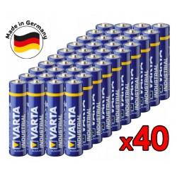 Alkalická baterie VARTA Industrial AAA LR3 R3 - 40ks