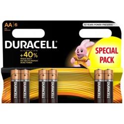 Alkalická baterie DURACELL Basic AA LR6 R6 - 6ks