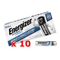 Baterie ENERGIZER Ultimate Lithium AAA LR3 R3 - 10ks (32 Kč za 1 ks)
