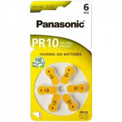 Baterie Panasonic 10 (PR536, PR230L) - do naslouchadel | 6 ks (blistr) | cena za 1 ks baterie