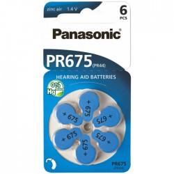 Baterie Panasonic 675 (PR44) - do naslouchadel | 6 ks (blistr) | cena za 1 ks baterie